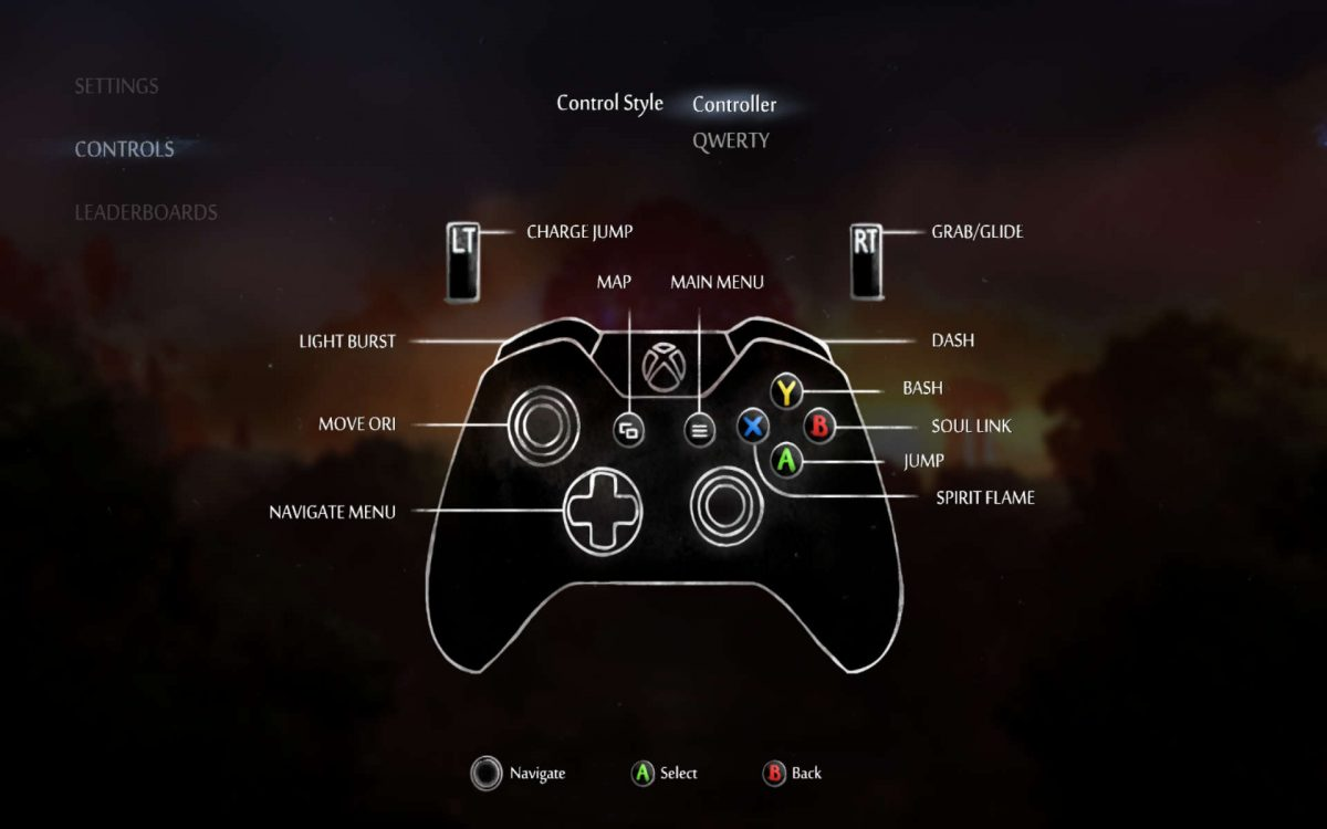 Control scheme for gamepad controller