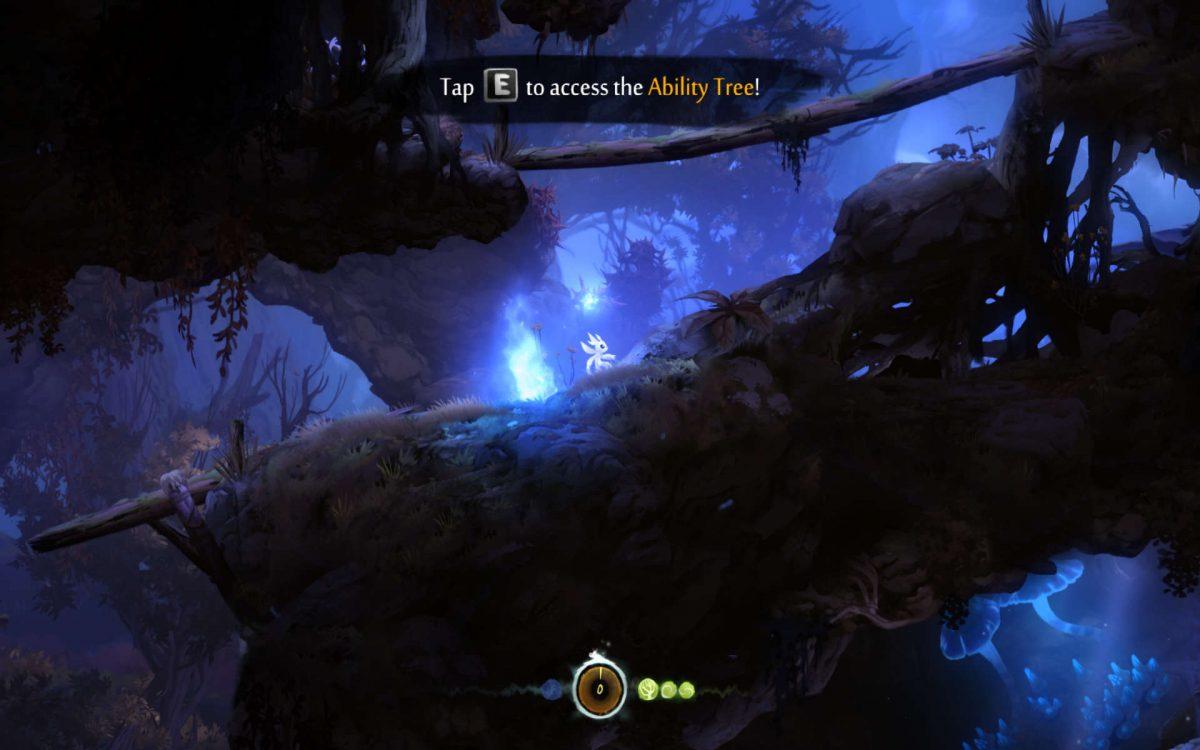 Ori saves progress using a Soul Link
