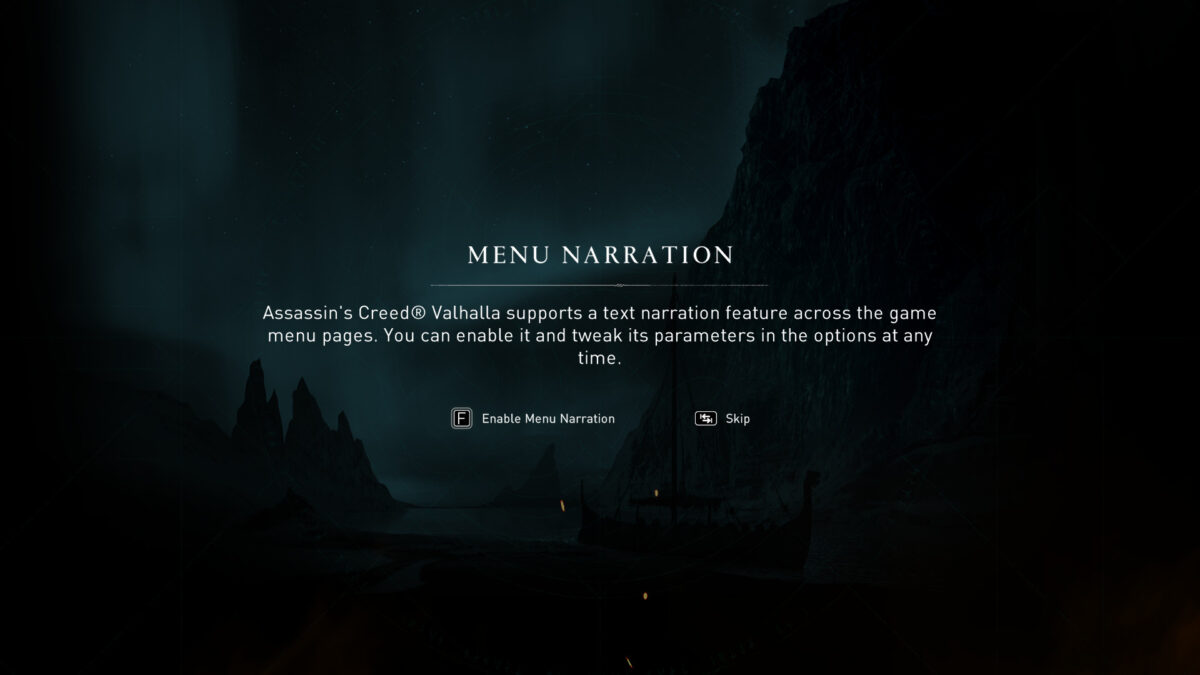 Menu narration supports a text narration feature across the game menu pages. you can enable it and tweak its parameters in the options at any time.