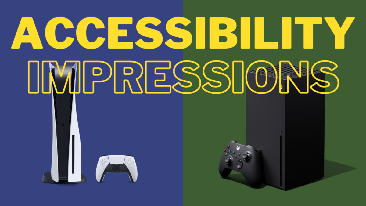 Accessibility Impressions: Playstation 5 vs. Xbox Series X/S