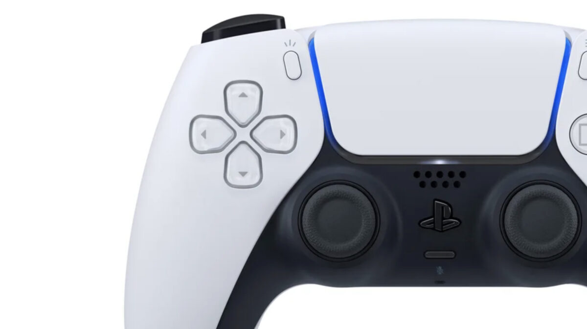 Close up of the PS5 controller