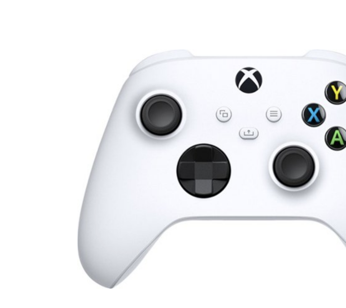 Close up of the xbox controller
