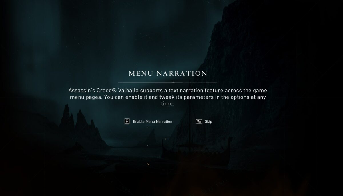 Menu narration, supports a text narrtion feature across the game menu pages. you can enable it and tweak its parameters in the options at any time.